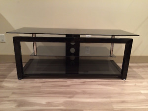 TV STAND TEMPERED GLASS AND METAL - meuble télé metal et vitre