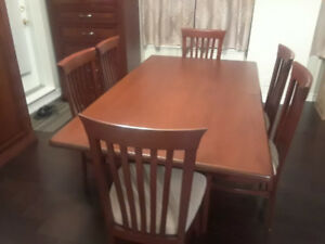 Dining Table and 6 Chairs $700 OBO
