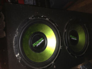 dual 12 inch sub woofer for autos