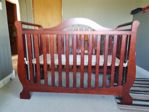 Baby crib and change table