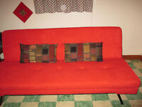 Couch that converts to bed never used. 1 year old