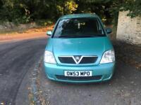 2004 Vauxhall Meriva Diesel, long MOT, drives excellent