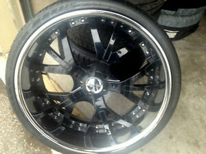 "22"" Rims and Tires, Mercedes S550, CL550, ... 255/30/22 60%"