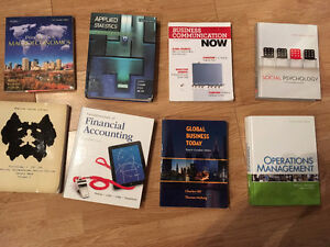 Various Commerce/Psych Textbooks