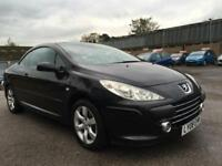 2008 Peugeot 307 CC Convertible 2.0 16V 140 S Petrol black Manual