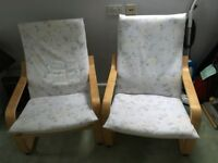 IKEA Poang Armchairs nearly new