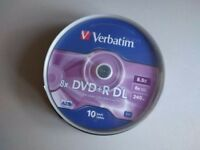 Verbatim 8.5GB 8x Double Layer DVD+R - 10 Pack