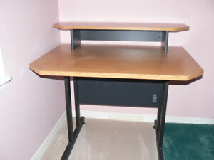 """Computer  or  Office desk.  Very sturdy with 1"""" thick top."""