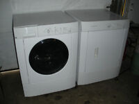 Matching White Frigidaire Front Loading Washer & Dryer, Delivery