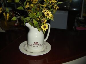 """DECORATIVE JUG AND PLATE """"HOME SWEET HOME"""""""