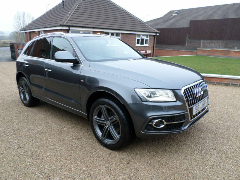2015 audi q5 2 0tdi 177ps s s tronic quattro s line plus full red leather in tamworth. Black Bedroom Furniture Sets. Home Design Ideas