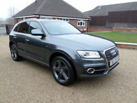 2015 Audi Q5 2.0TDI (177ps) (s/s) Tronic quattro S Line Plus, Full Red Leather