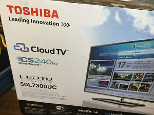 50in LED TV Toshiba, mint condition!