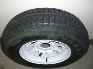 "TRAILER - ST 205 75 D14 - 14"" BIAS TIRES on RIMS - CLENTEC London Ontario image 1"