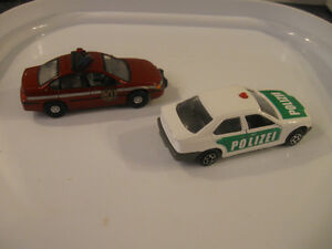Two DINKY TOYS...A MATCHBOX.Chevie Impala...A MAJORETTE BMW 3251