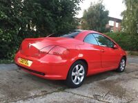 Peugeot 307cc Convertible,low milage,1year Mot