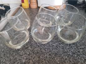 6x rotating whiskey tumblers