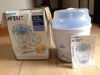 Electric baby bottle steriliser