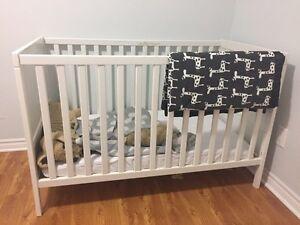 White IKEA crib $70 OBO