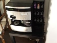Kenco drinks vending machine With capsule holder/dispenser Tea coffee etc. Good condition