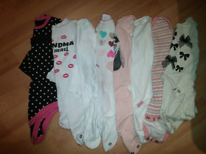 12-18 month girls onesies. (18 in total)