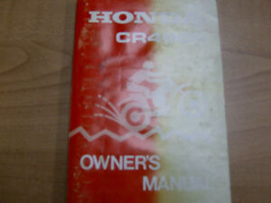 1982 AND 1983 HONDA CR480R OWNERS MANUAL Cambridge Kitchener Area image 2