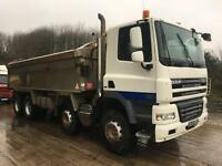 2008 08 DAF CF 85.360 euro5 8x4 PPG alloy insulated tipper, sheet, camera