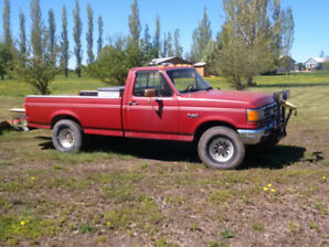 1987 Ford F150 4x4  and Plow