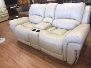 3 pc Leather Sofa Set FREE DELIVERY
