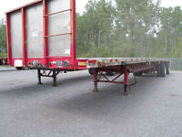 flatbed 48 pieds 2 essieux air ride Combo