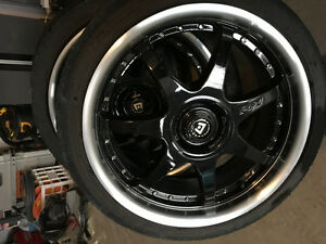18 inch motegi FF7 rims and tires