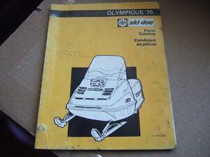 1976 SKI-DOO OLYMPIQUE PARTS CATALOG