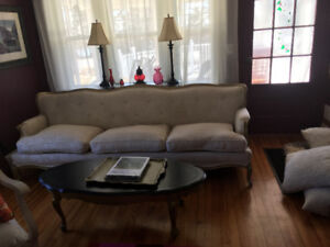 French Provincial Antique  8 ft sofa. Moving and it does not fit