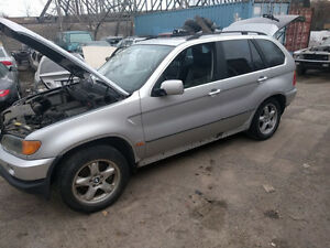 BMW X5 Engine Transmission Doors Body Parts 2000 2001 2002 2003
