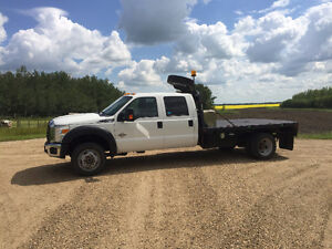 2012 Ford F-550 Crew Cab 4x4 Diesel with Deck