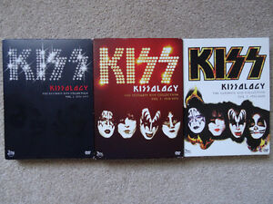 KISSOLOGY Vol 1, 2 and 3 DVD sets for sale KISS