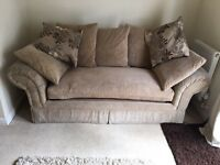 Cream Fabric Sofa Bed