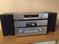 Sony DAB separates CD hifi system with Tannoy speakers
