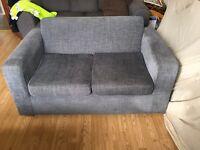 Grey 2 seat sofa