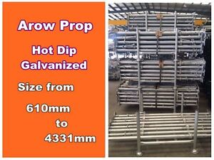New Galvanized Acrow Prop Number1 Prop Size 1618mm to 2621mm Australian Standard