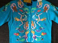 Michael Simon mermaid handmade vintage brand new sweater