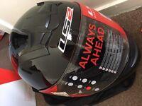 Helmet NEW Black LS2 with adhesives