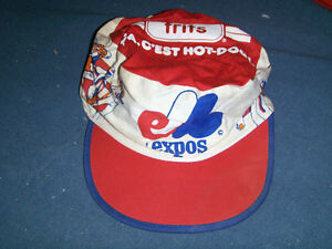 FRITS HOG DOGS-MONTREAL EXPOS BASEBALL CAP-1980'S-VINTAGE!