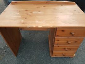 Pine work Desk needs a bit TLC but usable