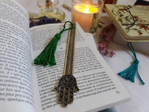 Marque-page en metal Khamsa Handmade bookmark metal for books