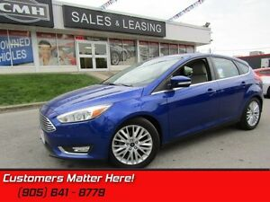 2015 Ford Focus Titanium  NAVI, ROOF, LEATHER, REAR CAMERA, ALLO