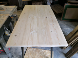 Made to order bespoke rustic wooden dining table