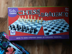 Chess and Draughts Board Game