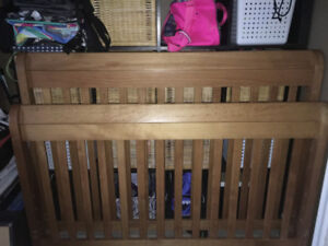 Double Bed Frame -- Sleigh Bed