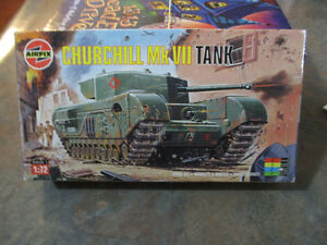 AIRFIX-  WWII Churchill Mk VII Tank Model Kit---Made in France